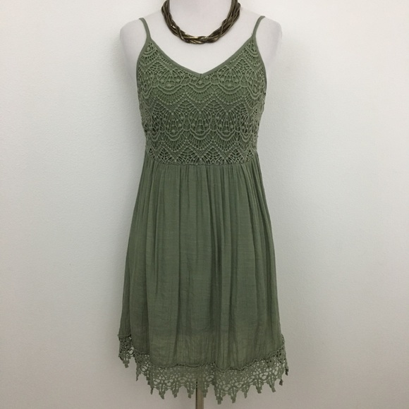 Poetry Dresses & Skirts - Poetry | Green Lacey Sundress